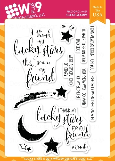 Wplus9 LUCKY STARS Clear Stamps CL-WP9LS zoom image