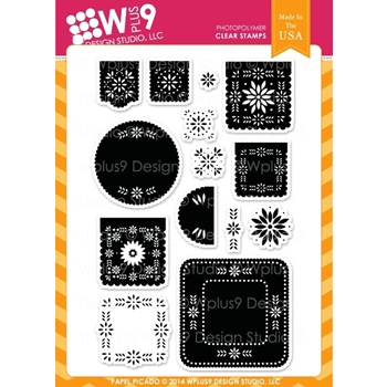 Wplus9 PAPEL PICADO Clear Stamps CL-WP9PAPI*
