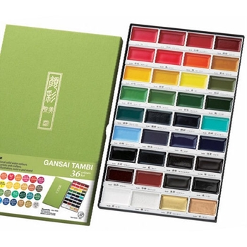 Acuarelas Zig Kuretake Gansai Tambi 36 COLOR SET