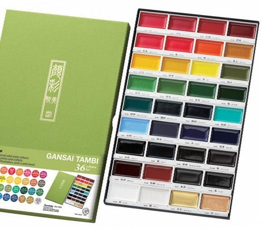 Zig Kuretake Gansai Tambi 36 Color Watercolor Set