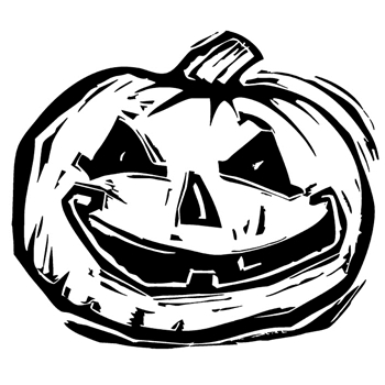 Tim Holtz Rubber Stamp CARVED PUMPKIN Stampers Anonymous H2-2406
