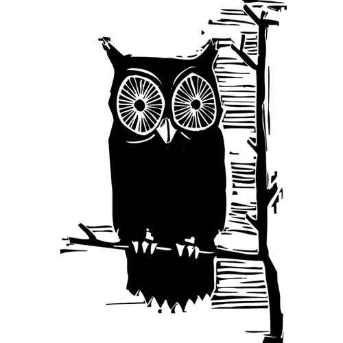 Tim Holtz Rubber Stamp CARVED OWL Stampers Anonymous M3-2408 Preview Image