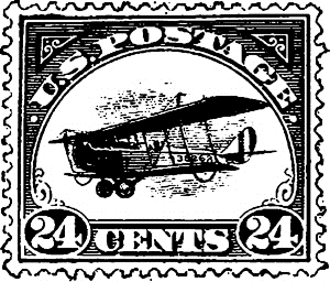 Tim Holtz Rubber Stamp AIR POSTAGE STAMP Stampers Anonymous D3-2431