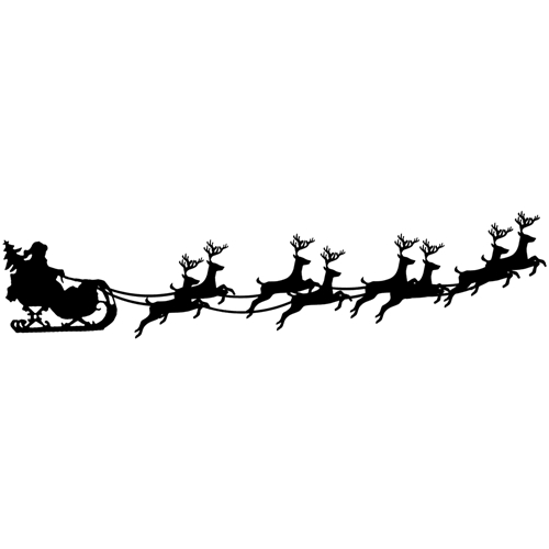Tim Holtz Rubber Stamp SANTA SLEIGH Stampers Anonymous K6-2435 Preview Image