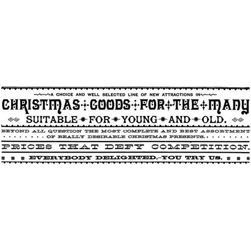 Tim Holtz Rubber Stamp CHRISTMAS GOODS Stampers Anonymous P3-2436 Preview Image