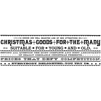 Tim Holtz Rubber Stamp CHRISTMAS GOODS Stampers Anonymous P3-2436