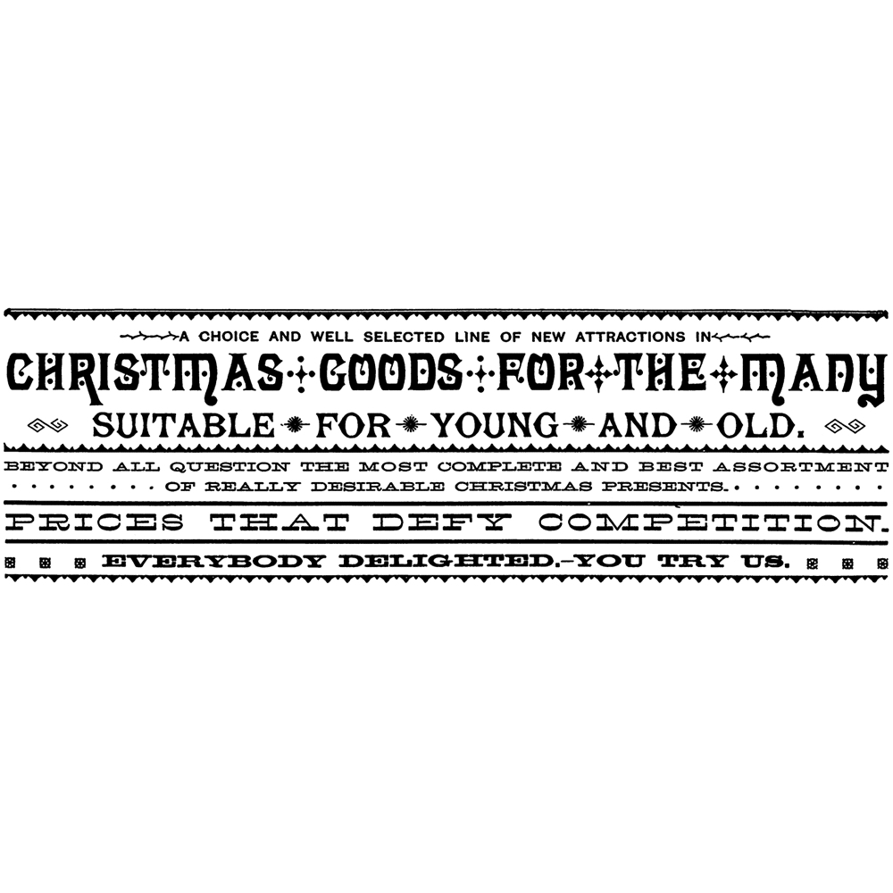 Tim Holtz Rubber Stamp CHRISTMAS GOODS Stampers Anonymous P3-2436 zoom image