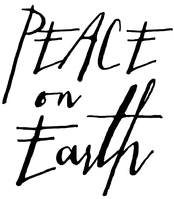 Tim Holtz Rubber Stamp WRITTEN PEACE ON EARTH Stampers Anonymous H2-2439 zoom image
