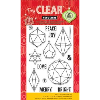 Hero Arts Clear Stamps CHRISTMAS CRYSTALS cl802 Holiday
