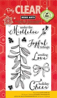 Hero Arts Clear Stamps UNDER THE MISTLETOE cl797 Holiday  Preview Image