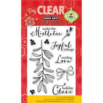 Hero Arts Clear Stamps UNDER THE MISTLETOE cl797 Holiday