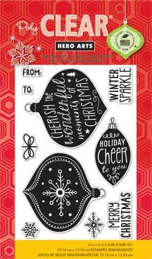 Hero Arts Clear Stamps WINTER SPARKLE cl798 Holiday * zoom image