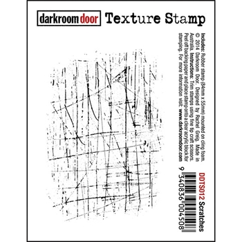 Darkroom Door Cling Stamp SCRATCHES Texture Rubber UM DDTS012