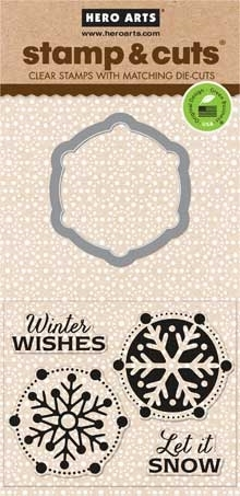 Hero Arts Stamp & Cuts LET IT SNOW Coordinating Stamp And Die Set DC113  Preview Image