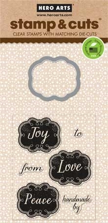 Hero Arts Stamp & Cuts SMALL JOY TAGS Coordinating Stamps And Die Set DC111  zoom image