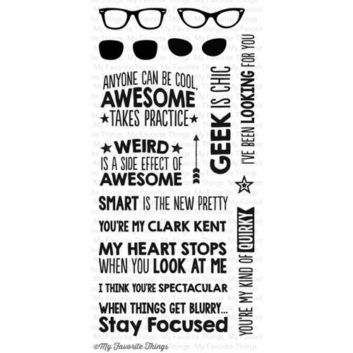 My Favorite Things GEEK IS CHIC Clear Stamps MFT 03725 Preview Image