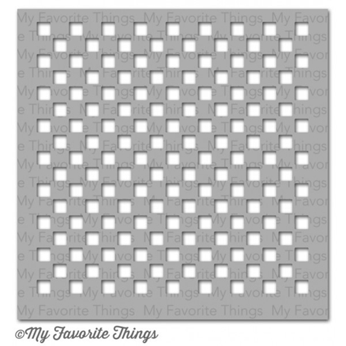 My Favorite Things SMALL CHECKERBOARD Mix-ables Stencil MFT 03770 Preview Image