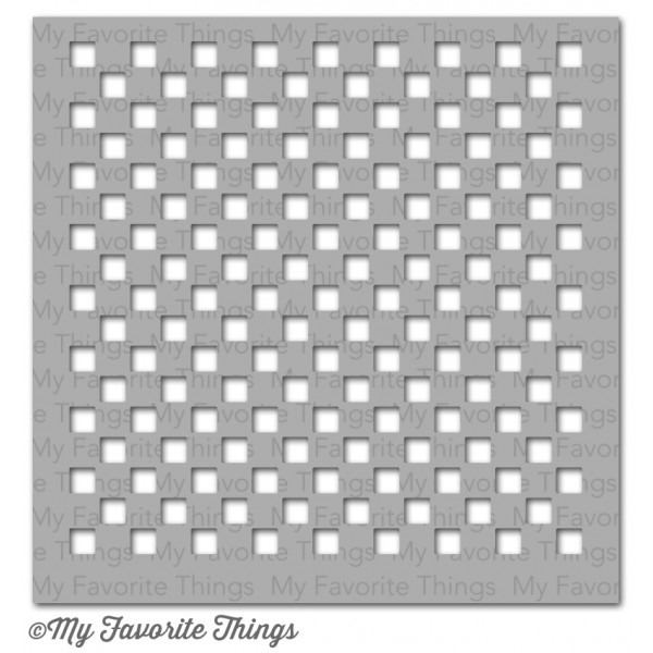 My Favorite Things SMALL CHECKERBOARD Mix-ables Stencil MFT 03770 zoom image