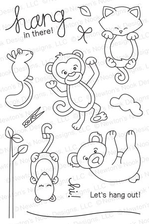 Newton's Nook Designs HANGING AROUND Clear Stamp Set 20140801 Preview Image