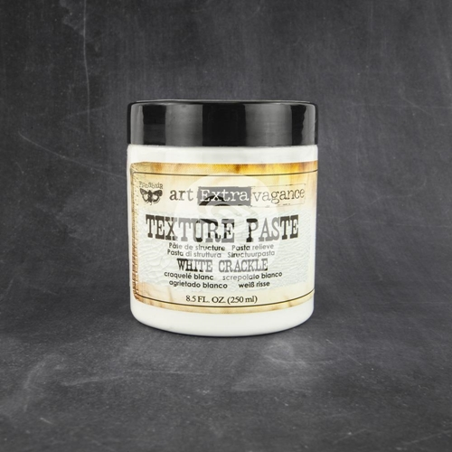 Prima Marketing WHITE CRACKLE TEXTURE PASTE Art Extravagance