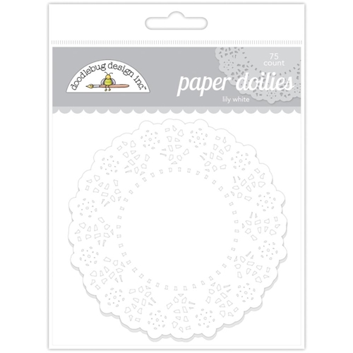 Doodlebug LILY WHITE Paper Doilies 75 Count 4460 Preview Image