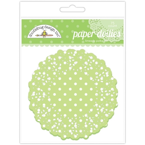 Doodlebug LIMEADE POLKA DOT Paper Doilies 75 Count 4468 Preview Image