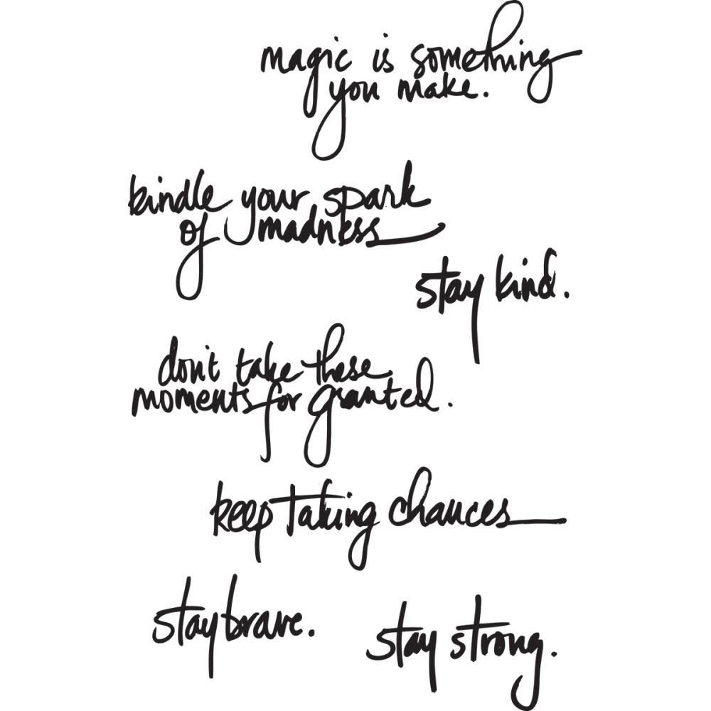 Dina Wakley HANDWRITTEN QUOTES Media Cling Rubber Stamp MDR44475  zoom image