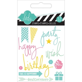 Heidi Swapp PARTY Mini Clear Stamp HS01127