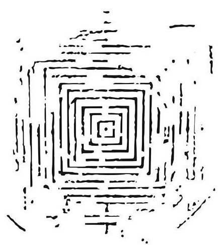 The Crafter's Workshop MINI LABYRINTH 6 x 6 Template TCW486S Preview Image