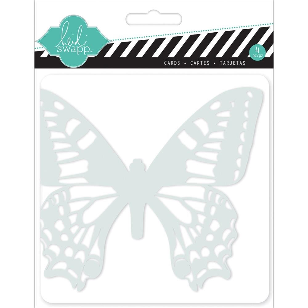 Heidi Swapp BUTTERFLIES Mixed Media Cards And Envelopes HS01151* zoom image