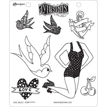 Dyan Reaveley JAY'S JOLLIES Cling Stamp Set Dylusions DYR44512
