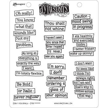 Dyan Reaveley DON'T HOLD BACK Cling Stamp Set Dylusions DYR44505