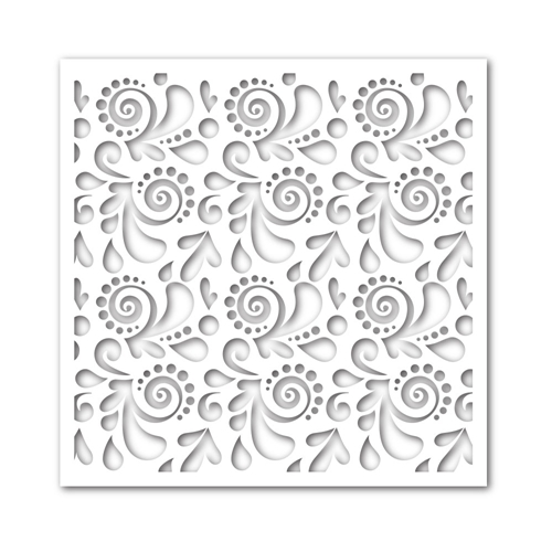 Simon Says Stamp Swirls and Dots Stencil