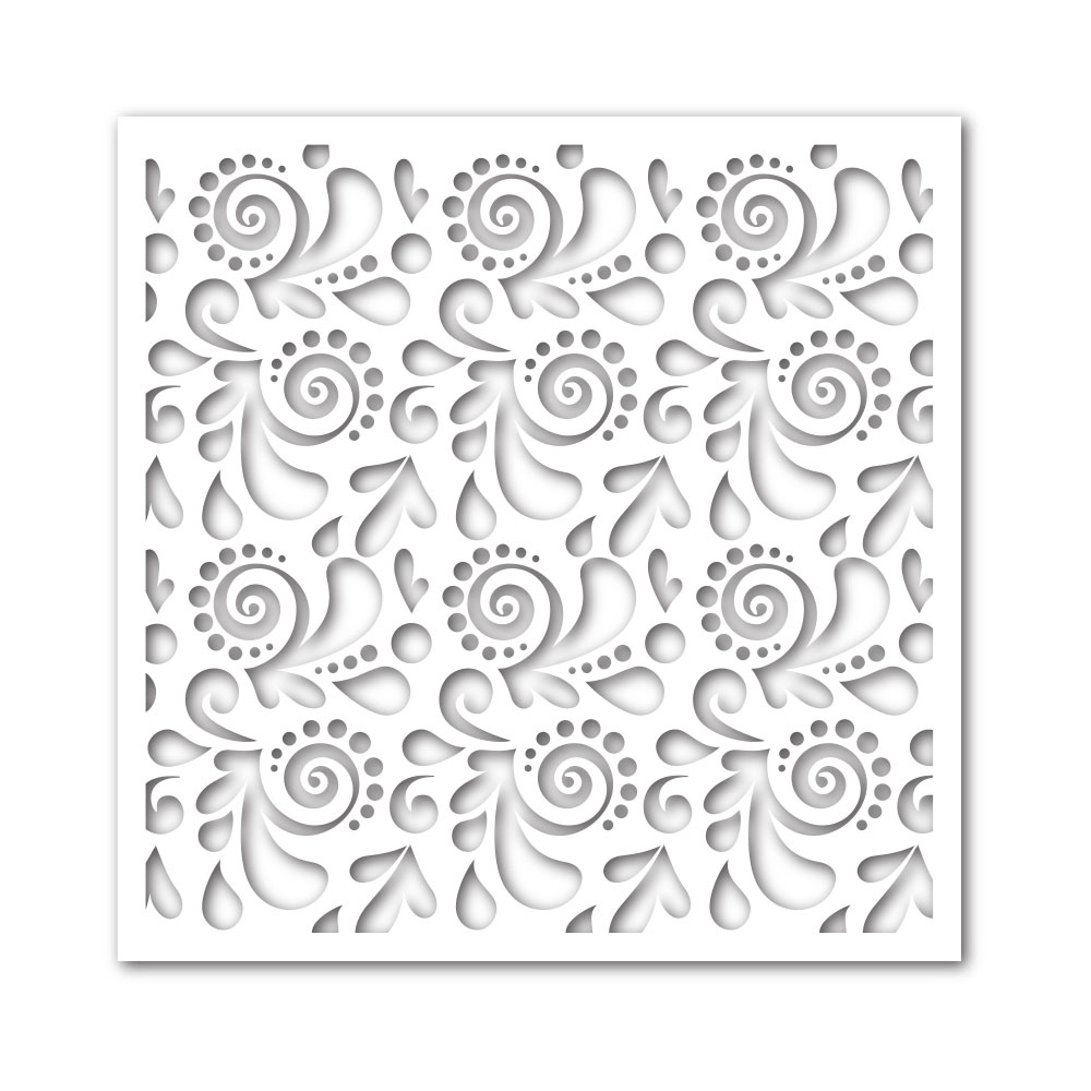 Simon Says Stamp Stencil SWIRLS AND DOTS ssst121362 zoom image