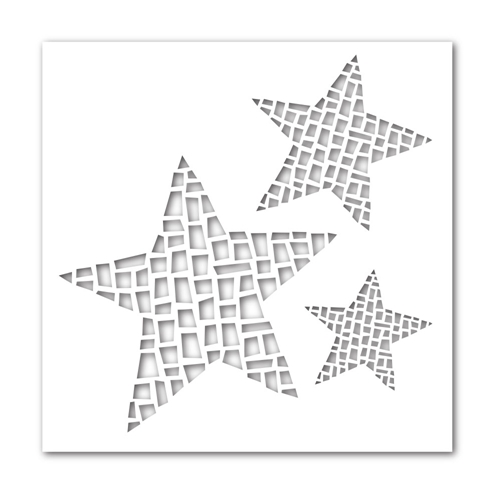 Simon Says Stamp Stencil MOSAIC STARS ssst121358 Preview Image