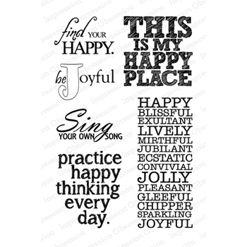 Impression Obsession Clear Stamp HAPPY PLACE CL544