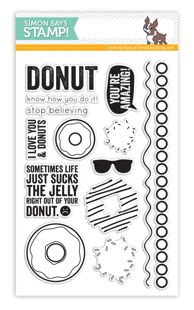 Simon Says Clear Stamps I LOVE DONUTS sss101450 zoom image