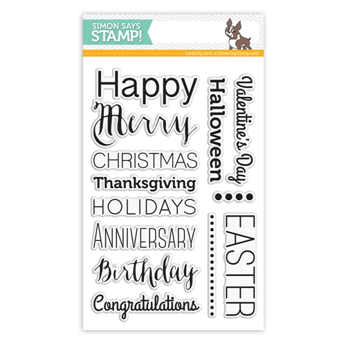 Simon Says Clear Stamps ESSENTIAL GREETINGS sss101482 Preview Image