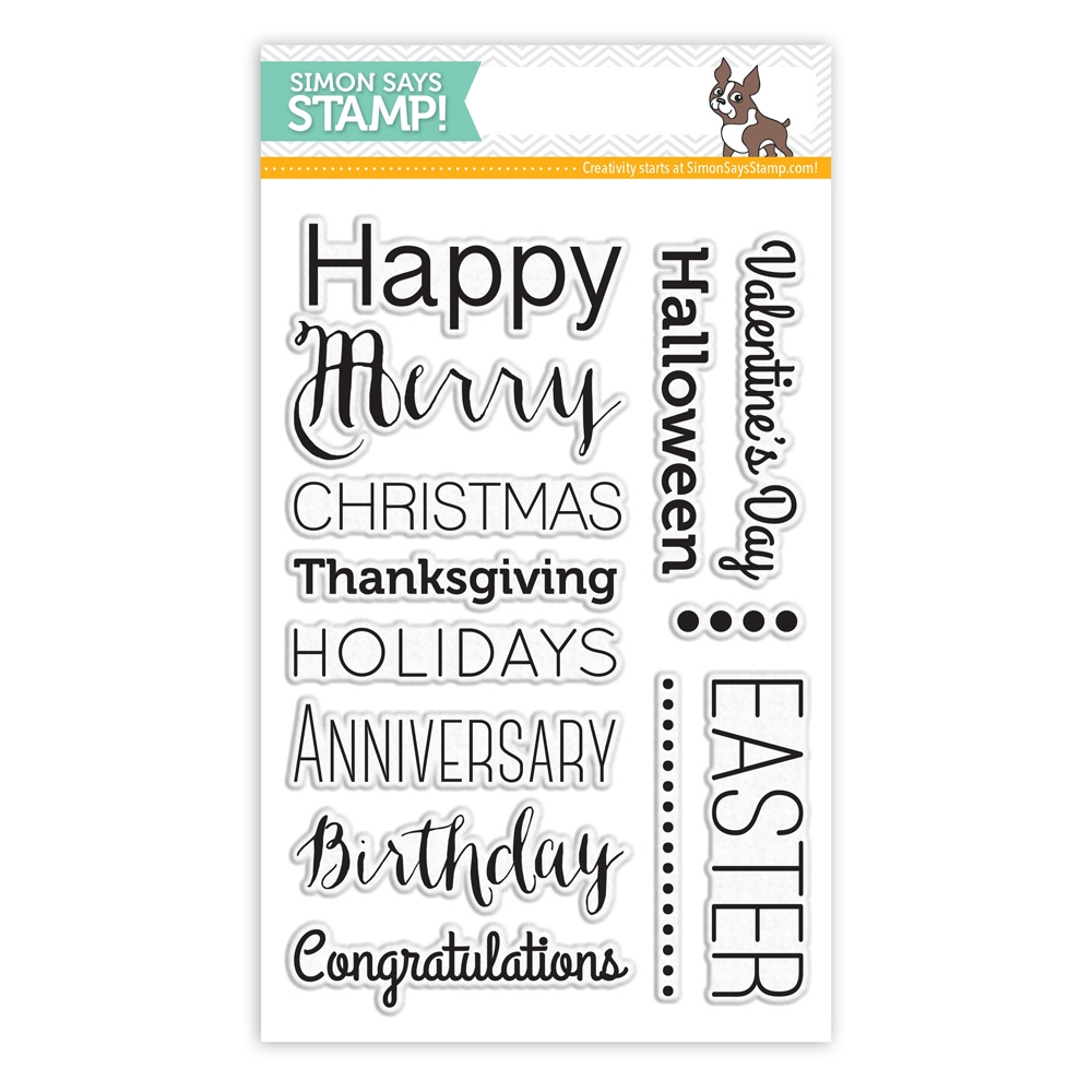 Simon Says Clear Stamps ESSENTIAL GREETINGS sss101482 zoom image