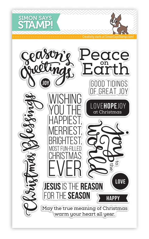 Simon Says Clear Stamps PEACE ON EARTH sss101436 zoom image