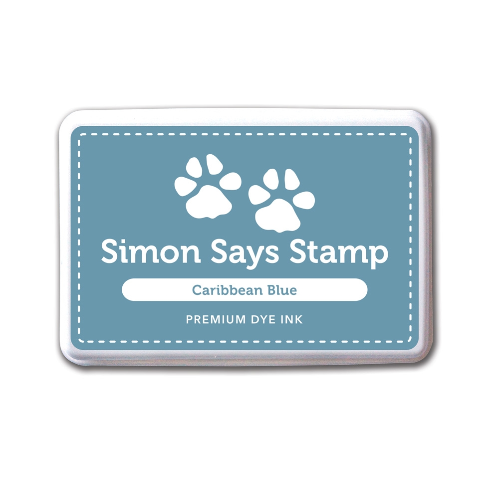 Simon Says Stamp Premium Dye Ink CARIBBEAN BLUE Ink031 zoom image