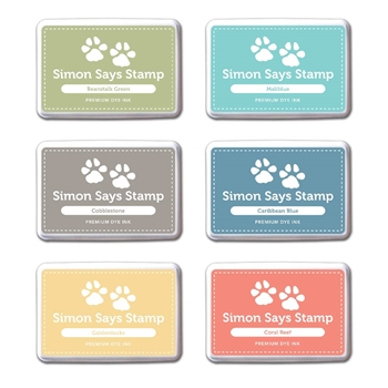 Simon Says Stamp Premium Dye 6 Ink Pads Set FAIRYTALE FTINK914