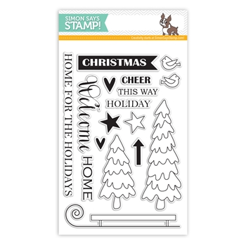 Simon Says Clear Stamps HOME FOR THE HOLIDAYS sss101440 *