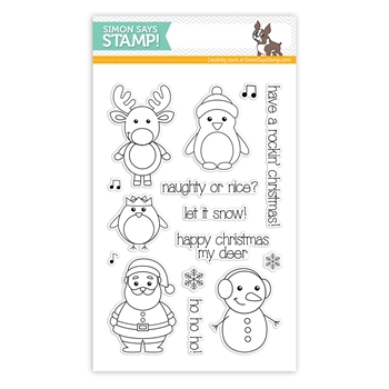 Simon Says with Clearly Besotted Clear Stamps WINTER FRIENDS sss101456 *
