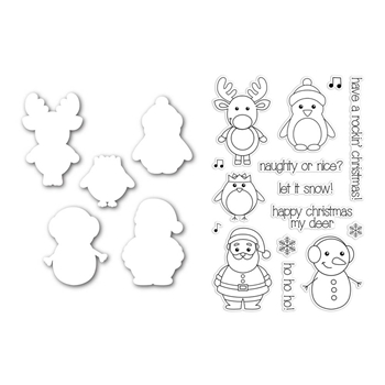 Simon Says Stamp with Clearly Besotted CUTE CHRISTMAS CHARACTERS SetCC126 *