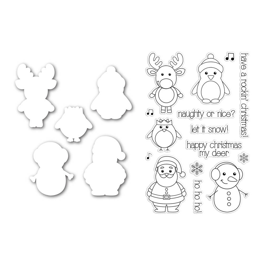 Simon Says Stamp with Clearly Besotted CUTE CHRISTMAS CHARACTERS SetCC126 zoom image