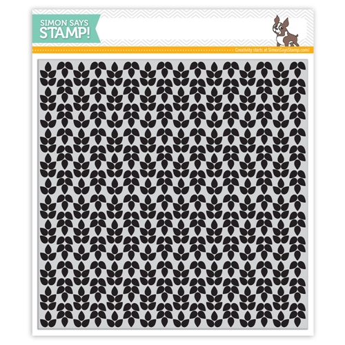 Simon Says Cling Rubber Stamp LEAF BACKGROUND sss101447 * Preview Image