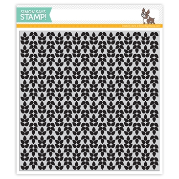 Simon Says Cling Rubber Stamp LEAF BACKGROUND sss101447 *