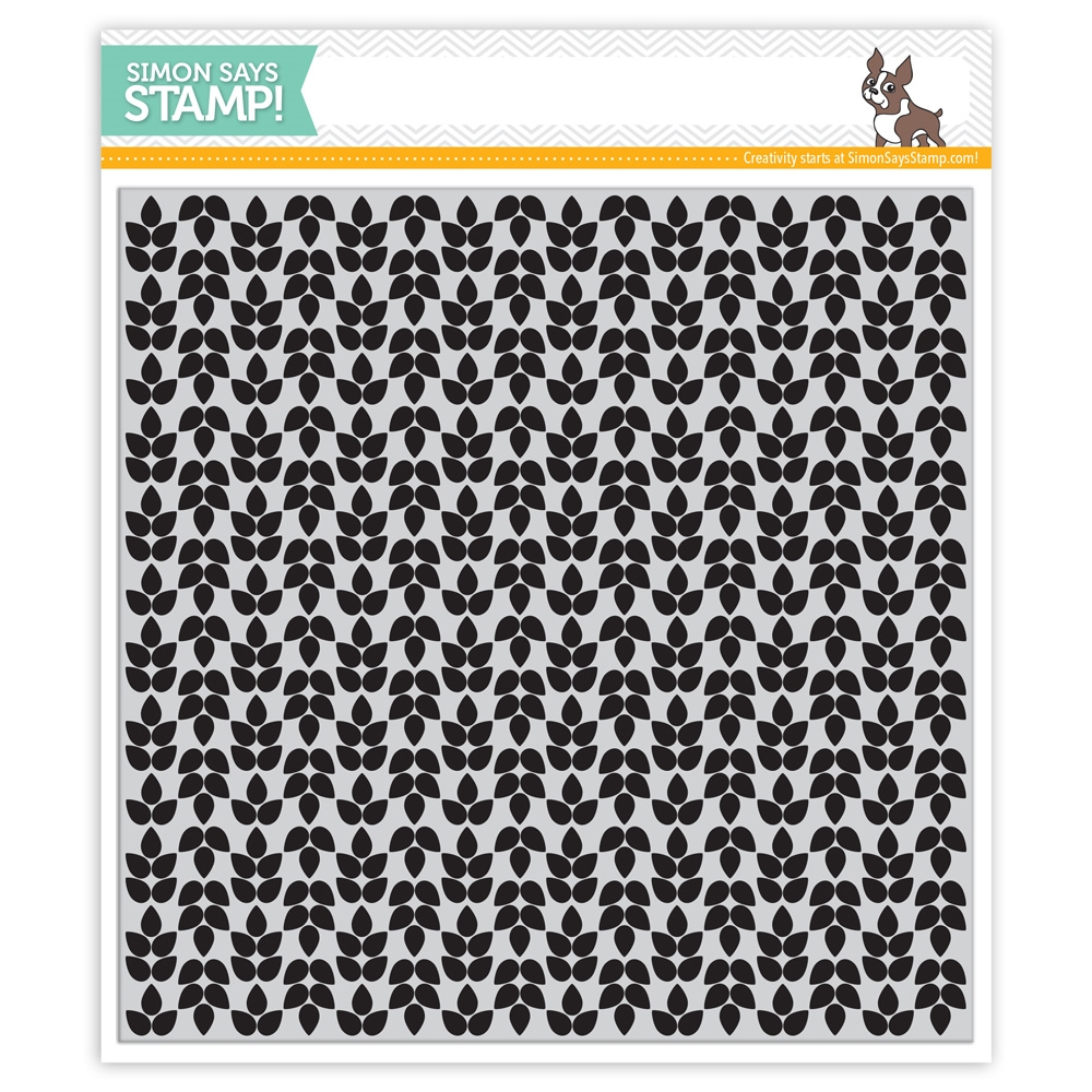 Simon Says Cling Rubber Stamp LEAF BACKGROUND sss101447 zoom image