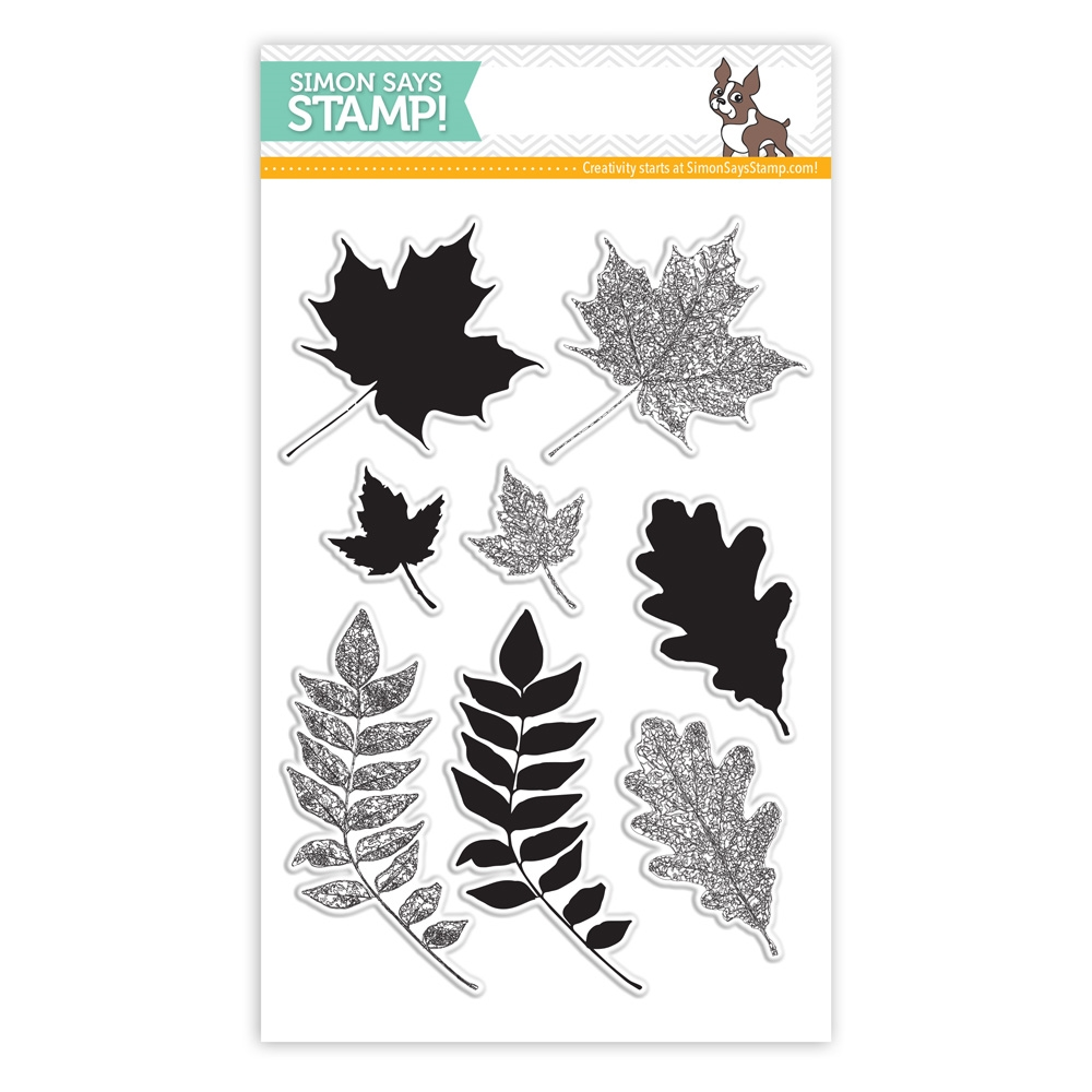 Simon Says Clear Stamps LEAVES AND SCRIBBLES sss101445 zoom image